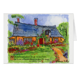 English Cottage Watercolor Blank Note Card