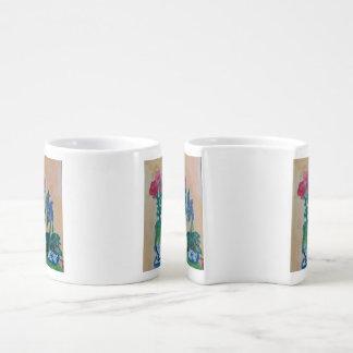 English country coffee mug set