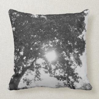 English countryside sun through a tree throw pillow