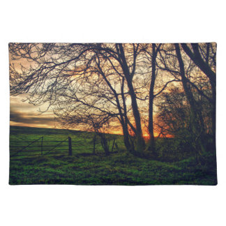 English Countryside Sunset HDR placemat