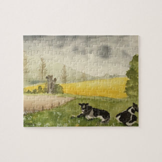 English Countryside with Cows Jigsaw Puzzle