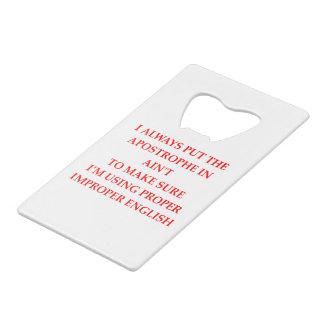 ENGLISH CREDIT CARD BOTTLE OPENER