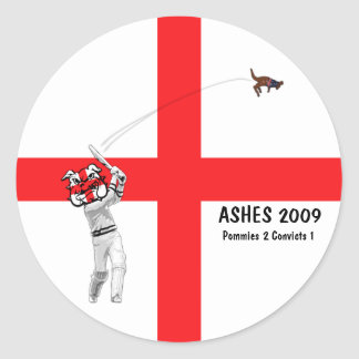 English cricket classic round sticker