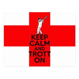 English cricket postcard