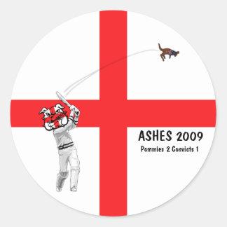 English cricket round sticker