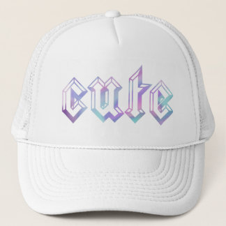English CUTE in Watercolor Trucker Hat
