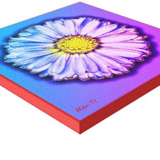 English Daisy ~ Colorful Pop Art by Aleta Canvas Print