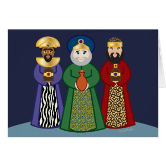 english DIA DE REYES * three kings day * card 1