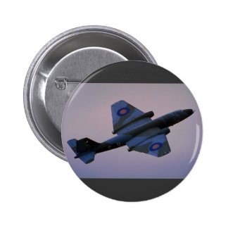 English Electric Canberra in flight at Cranfield Pinback Button