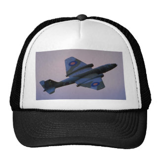 English Electric Canberra in flight at Cranfield, Mesh Hats