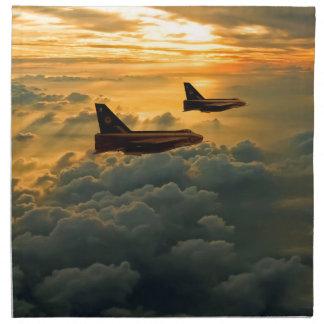 English Electric Lightning sunset flight Napkin