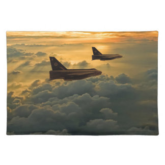 English Electric Lightning sunset flight Placemat