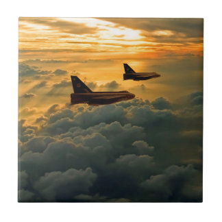 English Electric Lightning sunset flight Tile