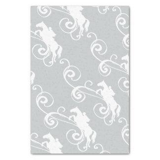 English Equestrian Flourish Tissue Paper