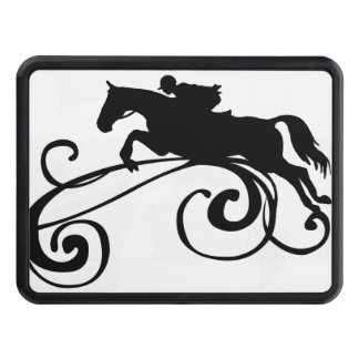 English Equestrian Flourish Trailer Hitch Cover