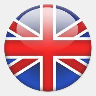 English Flag 2.0 Round Sticker