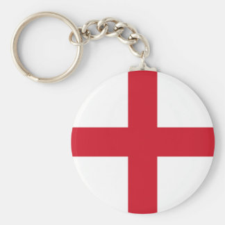 English flag basic round button keychain
