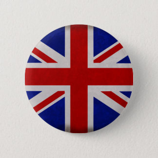 English flag of England textured 2 Inch Round Button