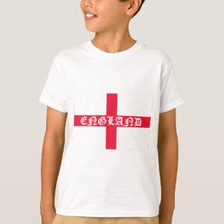 English Flag White Text T-Shirt