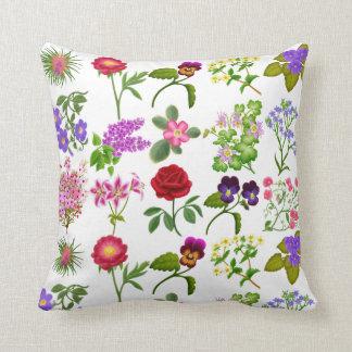 English Floral Garden Pillow