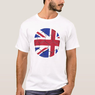 English Football UK Great Britain Soccerball Flag T-Shirt