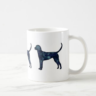 English Foxhound Black Watercolor Dog Silhouette Coffee Mug