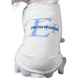 English Foxhound Breed Monogram Pet T Shirt