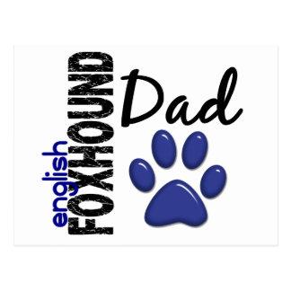 English Foxhound Dad 2 Postcard