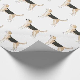 English Foxhound Dog Breed Illustration