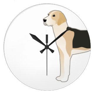English Foxhound Dog Breed Illustration Clock