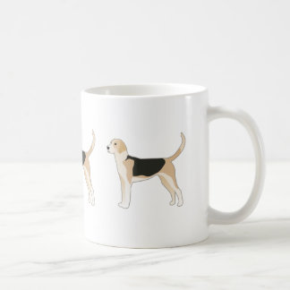 English Foxhound Dog Breed Illustration Coffee Mug