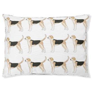 English Foxhound Dog Breed Illustration Large Dog Bed