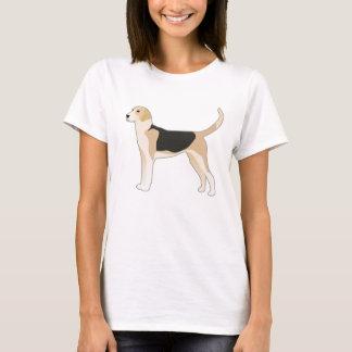 English Foxhound Dog Breed Illustration T-Shirt