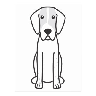 English Foxhound Dog Cartoon Postcard