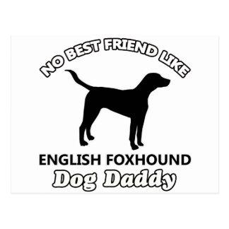 English Foxhound Dog Daddy Postcard
