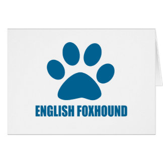 ENGLISH FOXHOUND DOG DESIGNS CARD