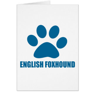 ENGLISH FOXHOUND DOG DESIGNS CARD