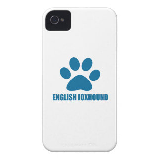 ENGLISH FOXHOUND DOG DESIGNS iPhone 4 Case-Mate CASE
