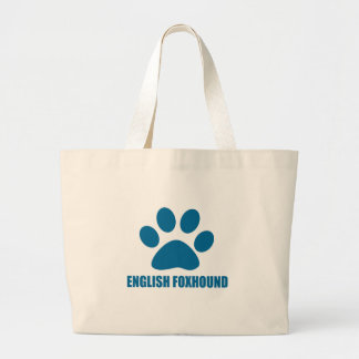 ENGLISH FOXHOUND DOG DESIGNS LARGE TOTE BAG