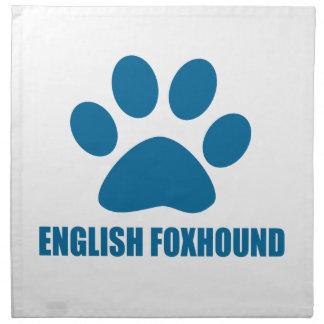 ENGLISH FOXHOUND DOG DESIGNS NAPKIN
