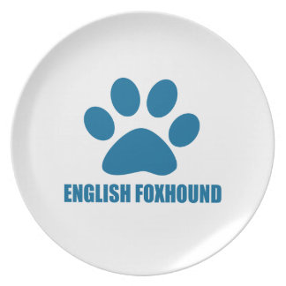 ENGLISH FOXHOUND DOG DESIGNS PLATE