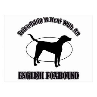 english foxhound DOG DESIGNS Postcard