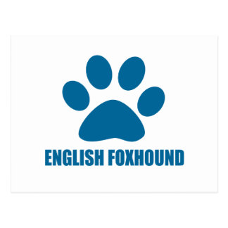 ENGLISH FOXHOUND DOG DESIGNS POSTCARD