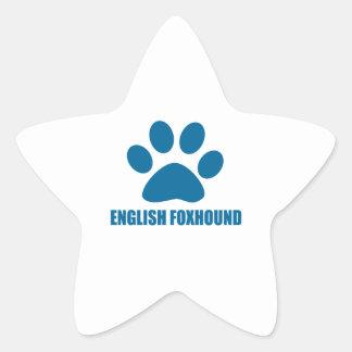 ENGLISH FOXHOUND DOG DESIGNS STAR STICKER