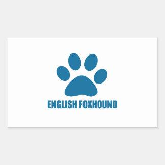 ENGLISH FOXHOUND DOG DESIGNS STICKER