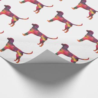 English Foxhound Geometric Pattern Dog Silhouette