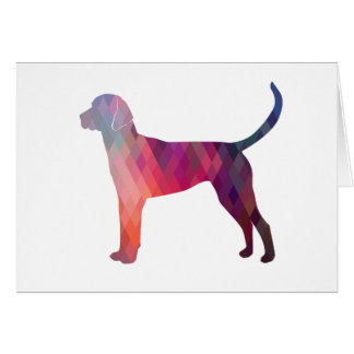 English Foxhound Geometric Pattern Silhouette Card
