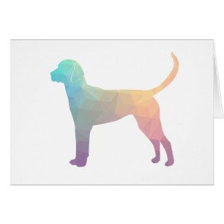 English Foxhound Geometric Pattern Silhouette Card