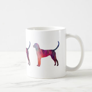 English Foxhound Geometric Pattern Silhouette Coffee Mug