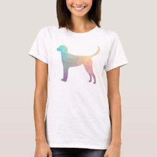 English Foxhound Geometric Pattern Silhouette T-Shirt